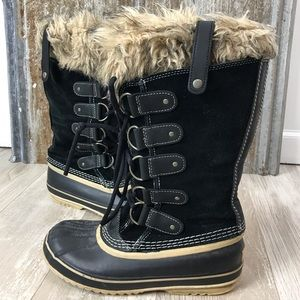 Sorel Black Joan of Arctic Winter Waterproof Boots